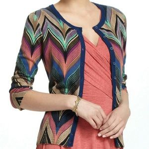 Anthropologie Tabitha Seared Chevron Cardigan